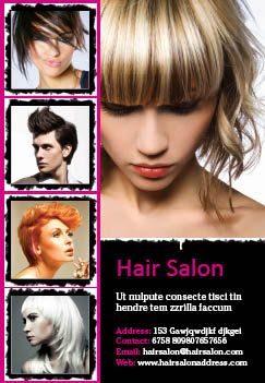 Best Salon Flyer Ideas Images On   Hair Salons