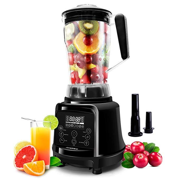 Aimores Blender For Smoothies Heavy Duty 75oz 3 In 1 Programmed