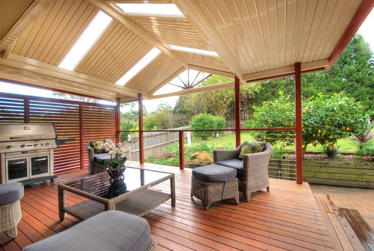 Great pergola over the timber decking.