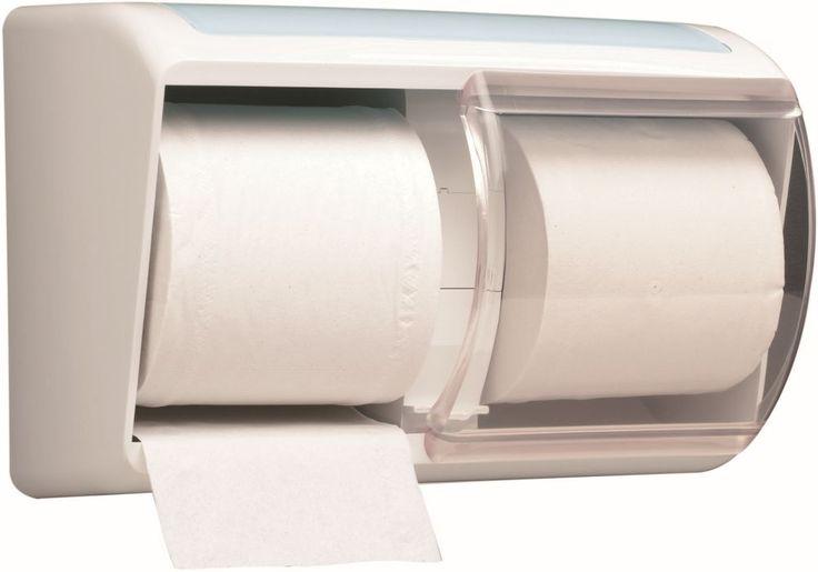 Dispenser hartie igienica Kimberly Clark Aqua, rezistent la socuri, fabricat din plastic durabil.