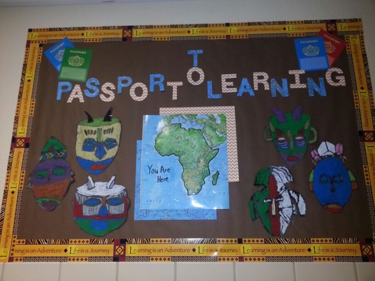 Change board as we get through each country in 8th grade ...