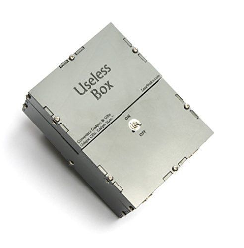 Useless Box Kit - The Original Useless Box Kit, Also Known As the Useless Machine or Perpetual Machine, A Perfect fit for Geek Gifts Desk Toys or a Cool Gadgets Gift
