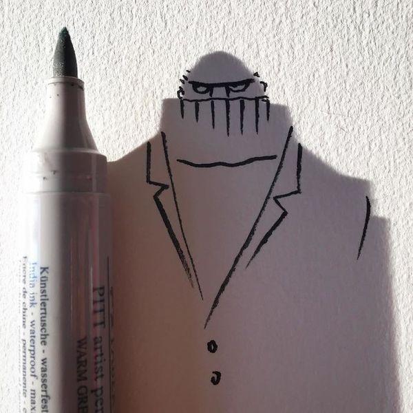 Schatten-Doodles von Vincent Bal