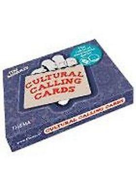 CULTURAL CALLING CARDS THE CULTURAL AWARENESS GAMES; Dit Engelstalige spel is speciaal gemaakt voor interculturele groepen. Met de 51 kaarten kun je drie verschillende spellen spelen om elkaars achtergrond beter te leren kennen.