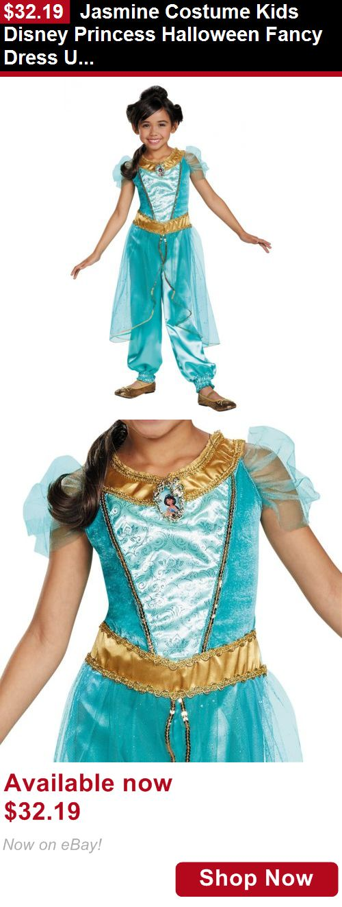 Costumes and reenactment attire: Jasmine Costume Kids Disney Princess Halloween Fancy Dress Up BUY IT NOW ONLY: $32.19
