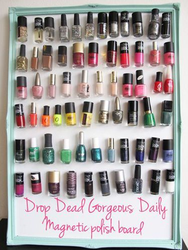 Beautiful Ways to Store Your Nail Polish #organization