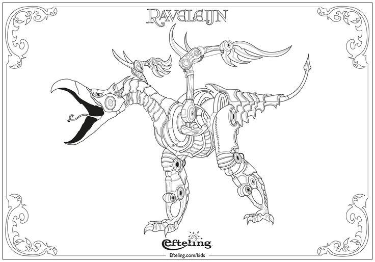 Graffer van Raveleijn. Efteling kleurplaat