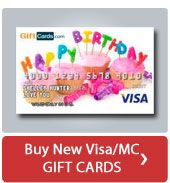 buy new visa gift card or mastercard gift card