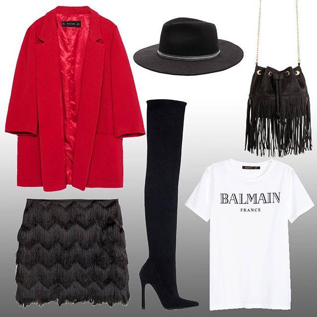 Cumartesi gecesi stili 1  Saturday night style 1   Zara Ceket, @zara Jacket *179,95tl H&M Etek, @hm Skirt *79,99tl Balmain for H&M tshirt, @balmainparis @balmainxhm shirt *69,99tl Zara Çizme ,@zara Shoes *459,95tl H&M Çanta, @hm Bag *49,99tl Stradivarius Şapka, @stradivarius Hat *59,95tl  #fashion #pashion #style #moda #tarz #stil #istanbul #jean #outfit #shoes #bag #tshirt