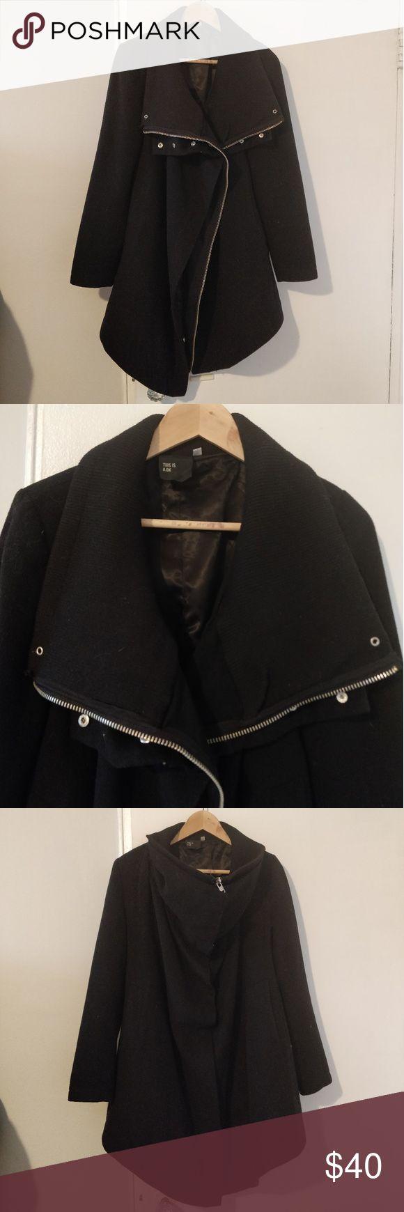 A .ok OAK NYC drapey jacket A.Ok OAK drapey, funnel jacket Double layered 50%wool 50% viscose In great condition OAK Jackets & Coats Pea Coats