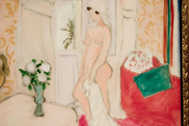Matisse, Le Nu rose ou Le Jeune Fille et le vase de fleurs