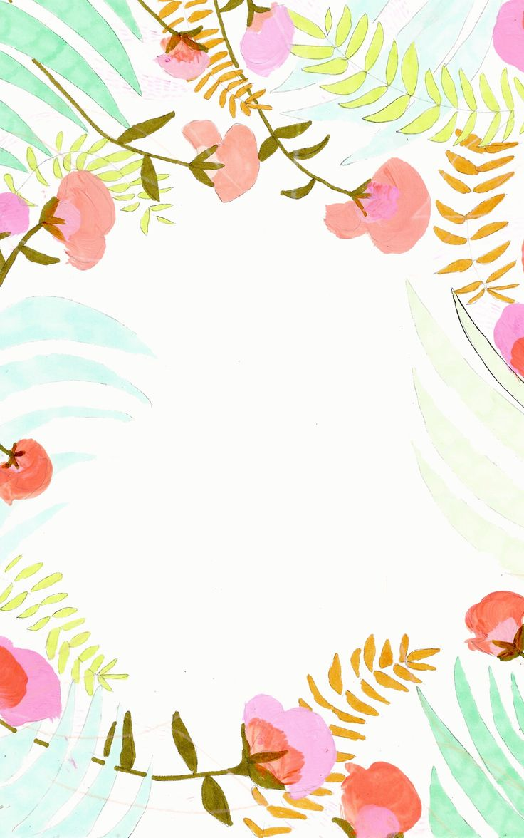 Floral iPhone background