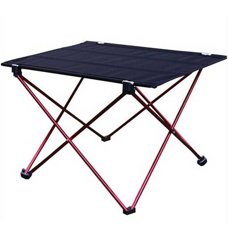 Amazon.com: Moon Lence Stainless Steel Camping Fishing Barbecue Hiking Folding Table Desk (Red): Furniture & Decor