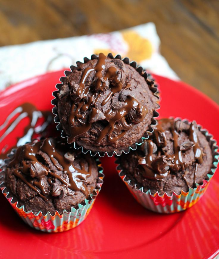 Vegan Gluten-Free Double Chocolate Muffins - The Vegan 8