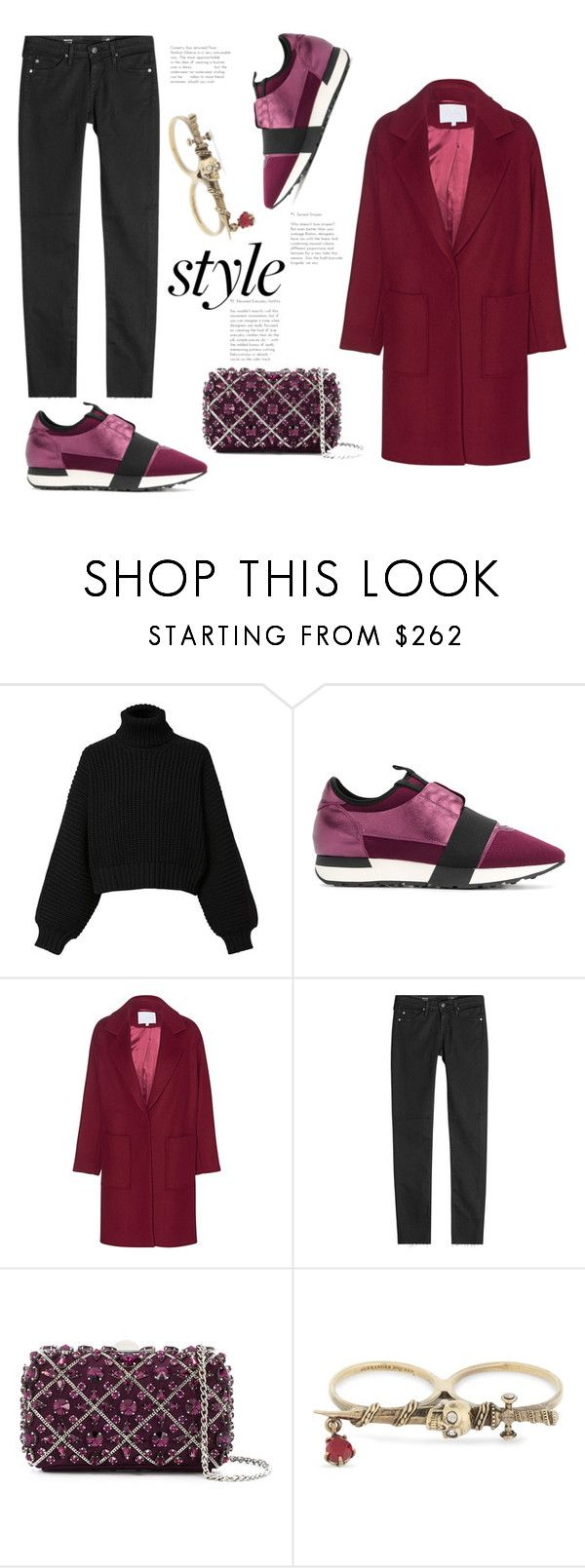 """""""NYFW - Blogger Style"""" by badassbabyboomer ❤ liked on Polyvore featuring Diesel, Balenciaga, Lala Berlin, AG Adriano Goldschmied, Rodo, Alexander McQueen and NYFW"""
