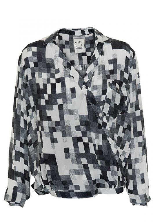 Karen By Simonsen Sim shirt black 44130 - Skjorter - MaMilla