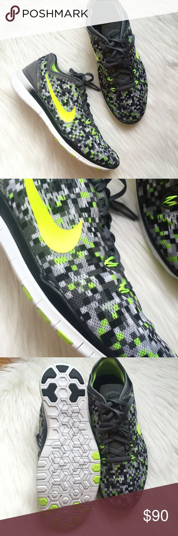 New NIKE FREE 5.0 Black & Neon Running Shoes! Brand new! Unfortunately I have too many pairs and have never worn these! In perfect condition! Any questions, please ask! Size 8.5 Nike Shoes Athletic Shoes