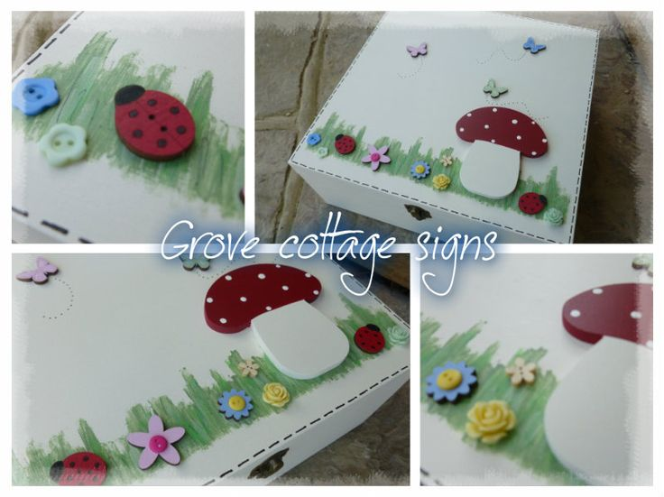 Completed order #grovecottage #handmade #completedorder #memorybox #memories #bespoke #toadstool #ladybird