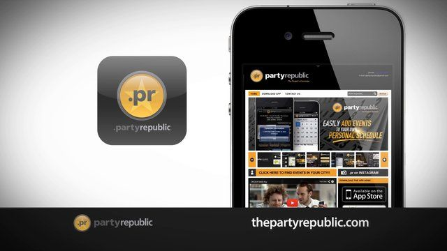 Party Republic APP  feature vid. This is a short video explaining the primary features on the Party Republic APP.