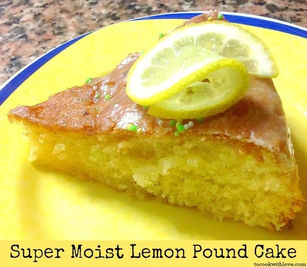 Super Moist Lemon Pound Cake Recipe   Cakes/Pies   Pinterest