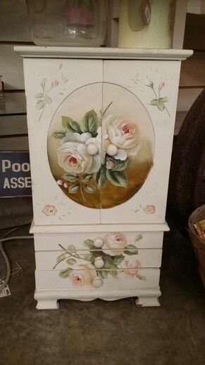 Jewelry chest. This would also be pretty painted on full size chest.