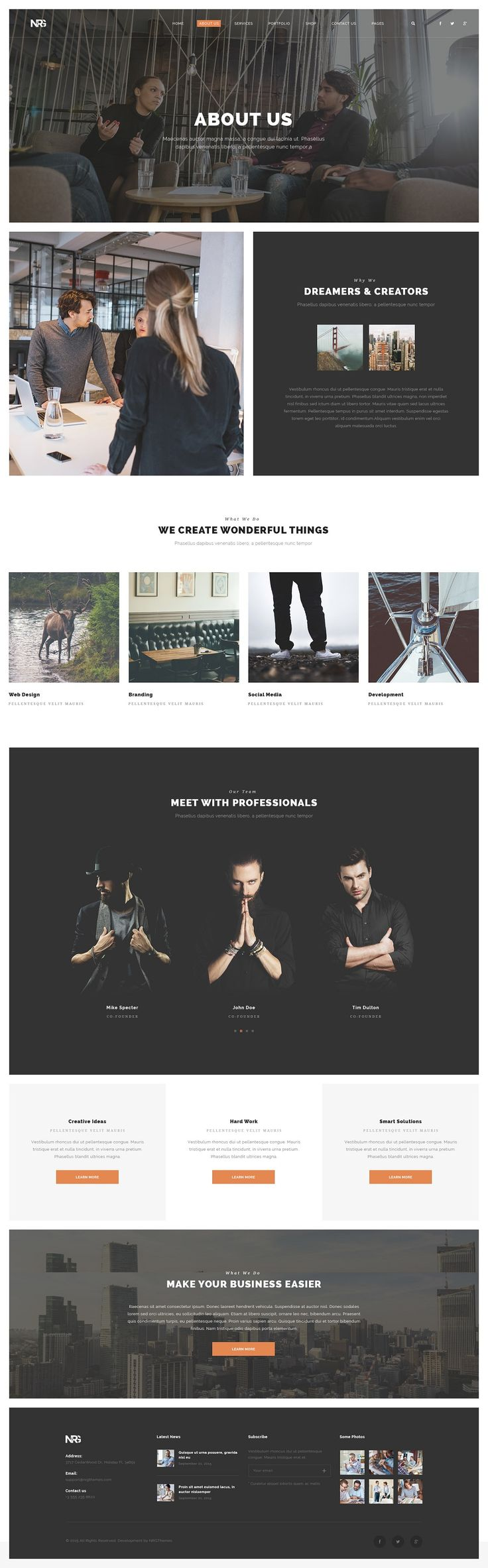 22 Best Wordpress Images On Pinterest Wordpress Template