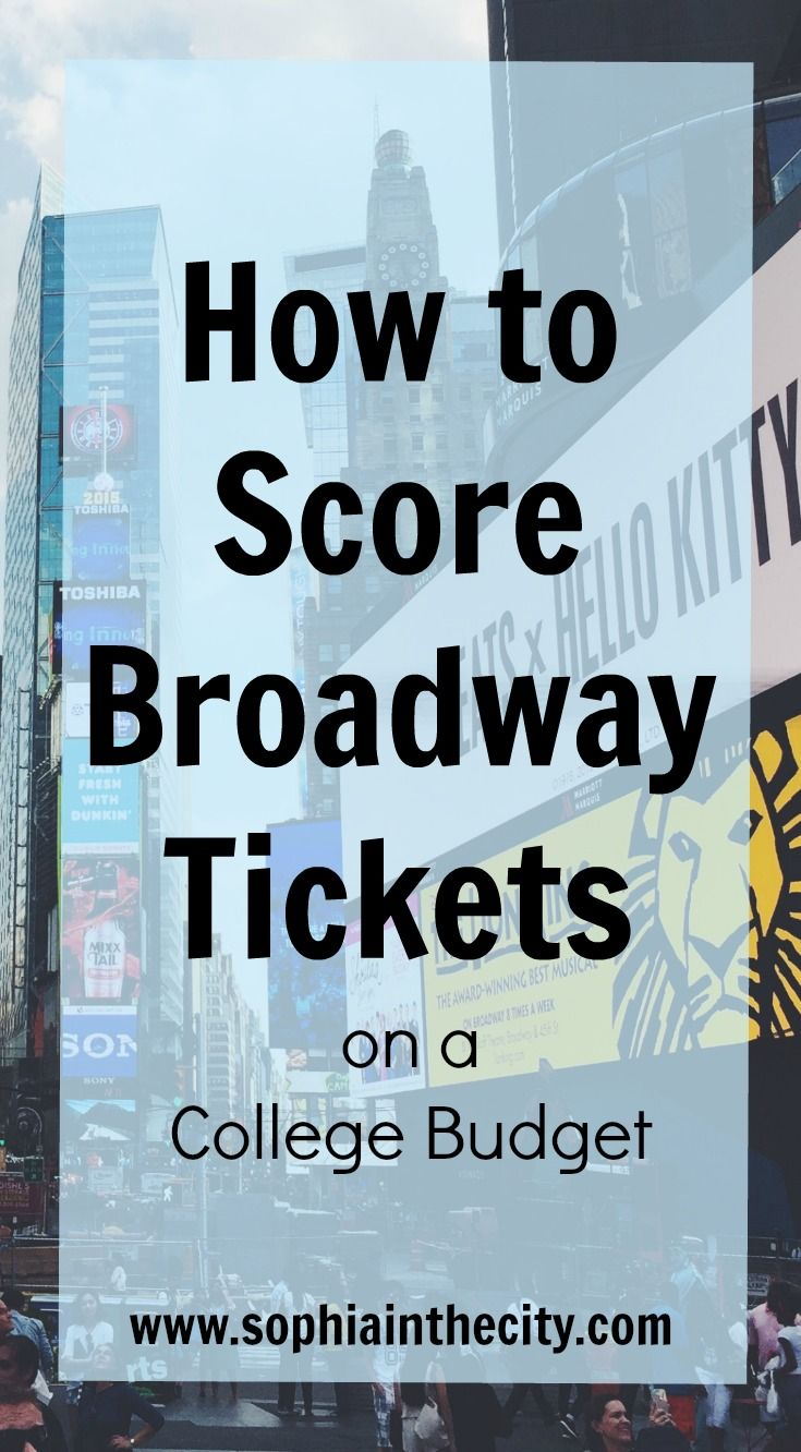 Looking for cheap tickets to a Broadway show? Click through to see the all best tips on how to score Broadway tickets on a college budget!