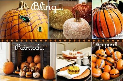 Inspiration for Celebration: Pumpkin Decorating, no carving!