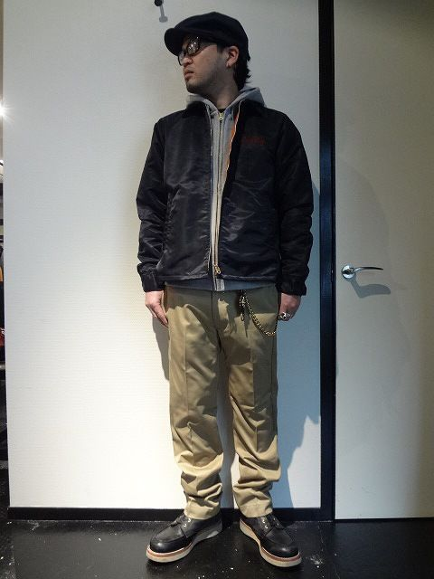 T/C TWILL CASHUNTING http://www.rams-web.com/products/detail3714.html ZIP UP PARKA http://www.rams-web.com/products/detail3688.html NYLON COACH JACKET http://www.rams-web.com/products/detail4050.html SLIM CHINO PANTS http://www.rams-web.com/products/detail3796.html PEANUT STUDS WALLET CHAIN http://www.rams-web.com/products/detail3919.html
