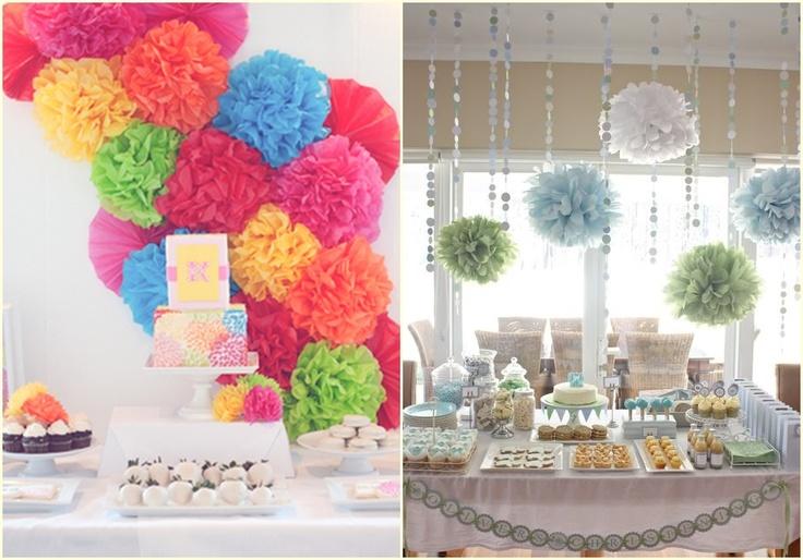 decoracao boteco noivado : decoracao boteco noivado:Decoração parede festa pompom