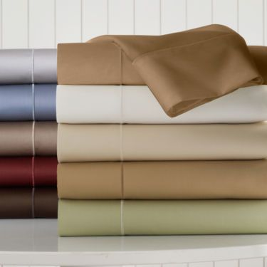 Royal Velvet® 400tc WrinkleGuard™ Sheet Set - camel - JCPenney