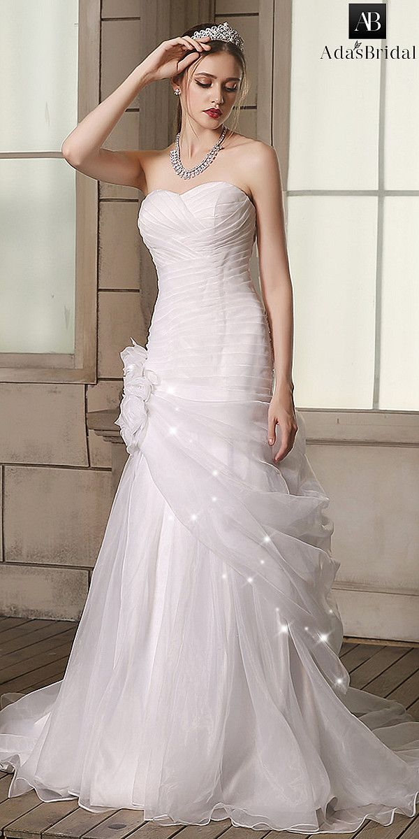 7a71b308fd01 Sparkling Tulle V-neck Neckline Mermaid Wedding Dress With Beaded Embroidery