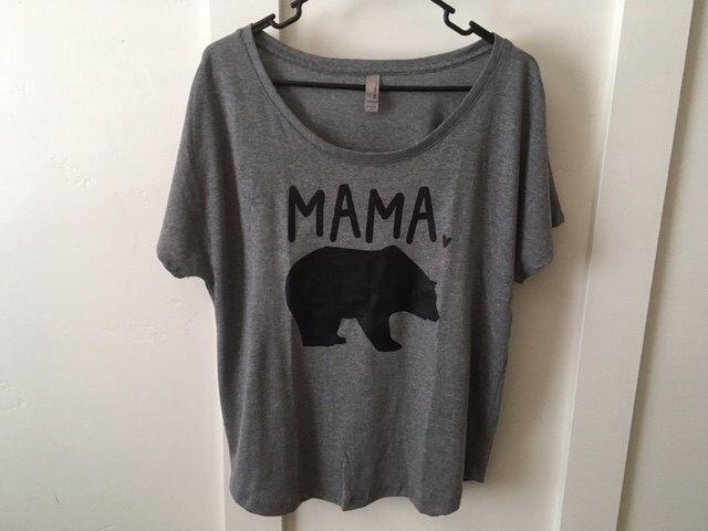 Mama Bear Shirt // Dolman style, Womens tshirt, Mama bear papa bear shirt, Mama bear tshirt, Gift for mom, Gift for her, Mom shirt by SkeleteePrinting on Etsy https://www.etsy.com/listing/272747034/mama-bear-shirt-dolman-style-womens