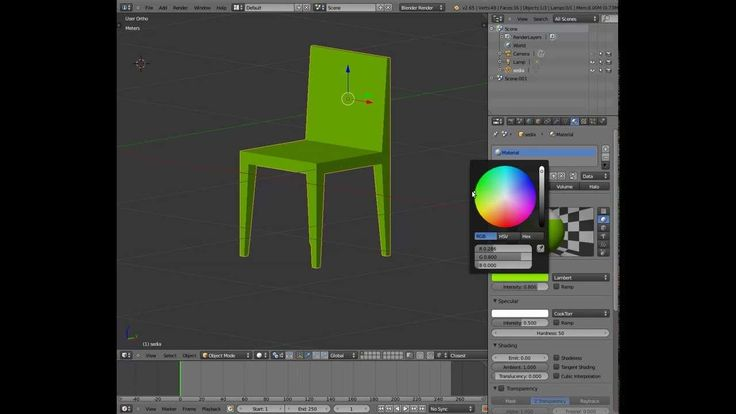 The third lesson of 3d design with Blender