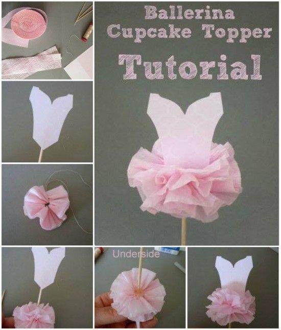 Ballerina Cupcake topper                                                                                                                                                     More