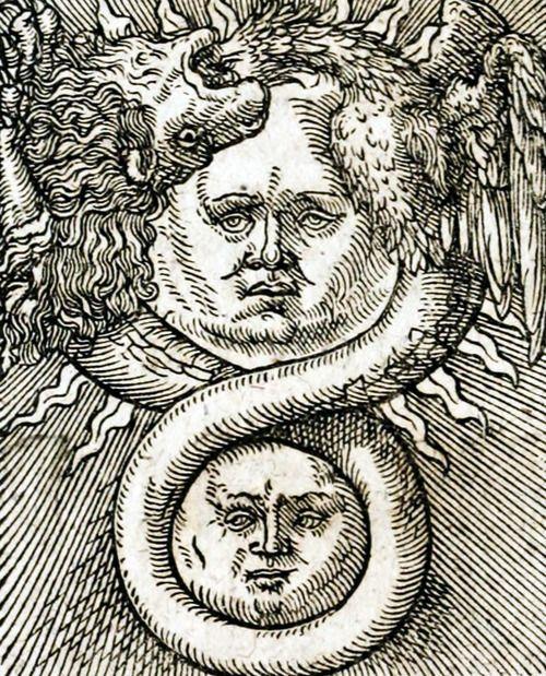 Hermes Trismegisto - Oculta philosophia (1613)  Hermes Trismegisto es el nombre griego de un personaje mítico que se asoció a un sincretismo del dios egipcio Dyehuty (Tot en griego) y el dios heleno Hermes. Hermes Trismegisto significa en griego 'Hermes, el tres veces grande',