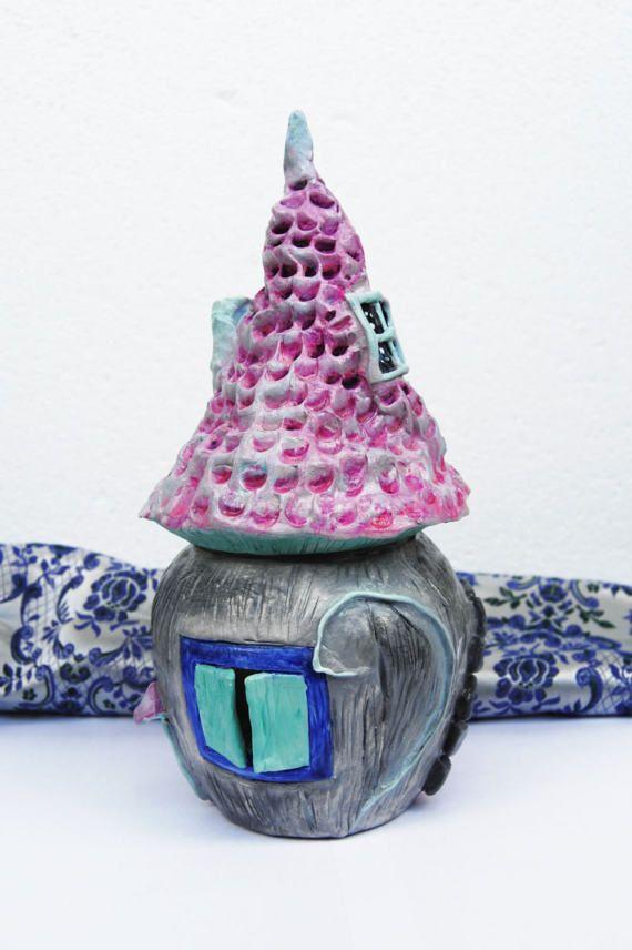 Decorative jar Fairy House jar Princess castle Jar