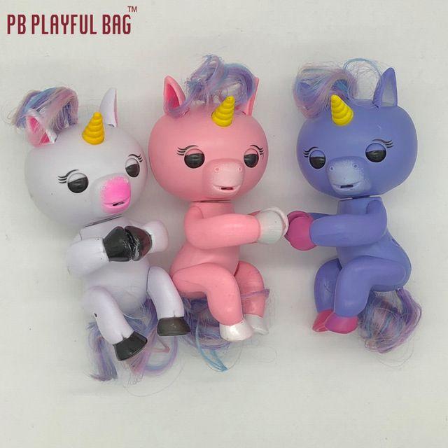 Pb Ludique Sac Alle Funktion 3 Farbige Doigt Licornes Und 6 Farbige Doigt Affen Intelligente Interaktive Affe Elektronische P Unicorn Toys Electronic Toys Toys