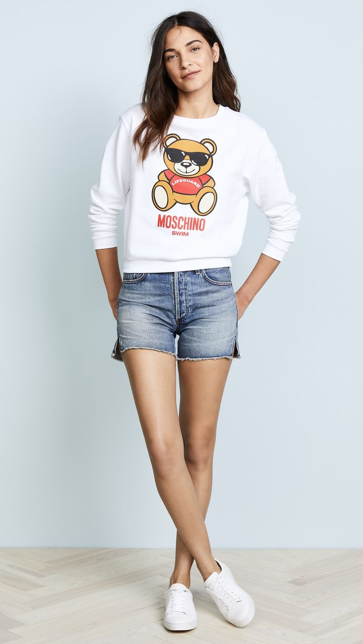 Moschino Bear Graphic Sweater | SHOPBOP