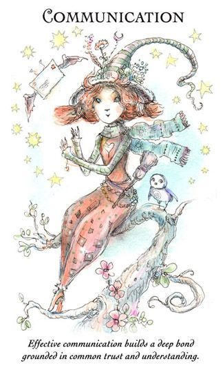 """☆ Witchling: Communication """"Effective communication builds a deep bond grounded in common trust and understanding."""" -::- Artist Paulina Cassidy ☆"""