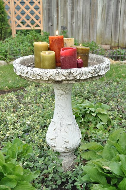 35 Best Bird Bath Decorating Images On Pinterest  Bird