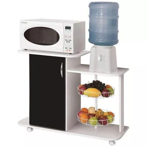 organizador con canasto frutero porta microondas dispenser