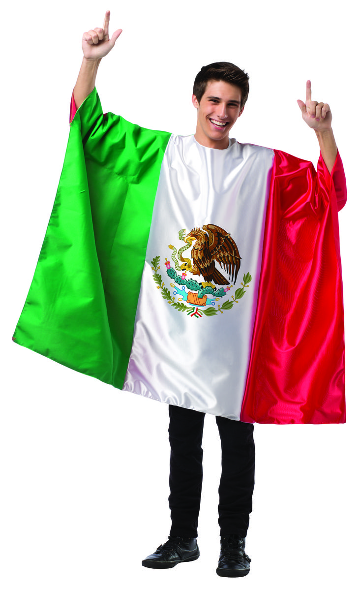 flag tunic mexico halloween party event costumes - Mexican Themed Halloween Costumes