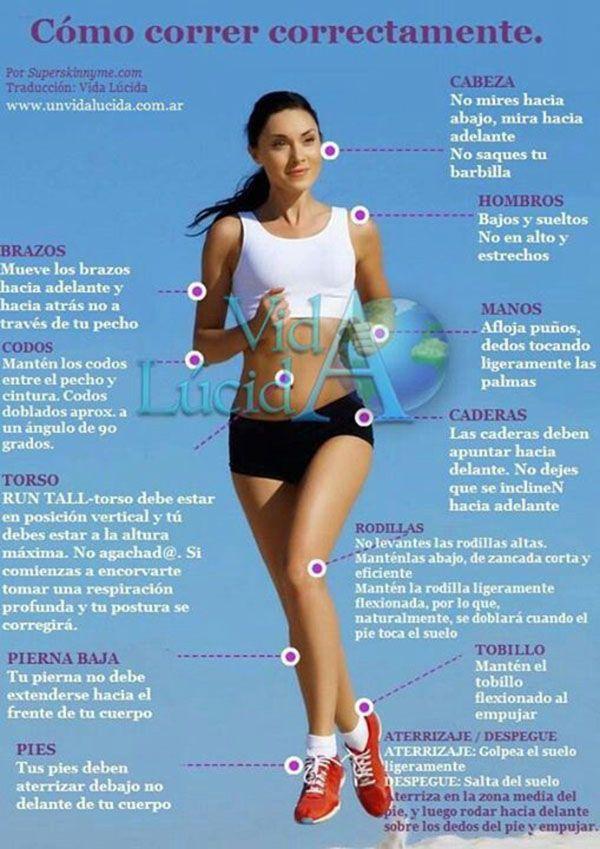 Cómo correr correctamente. #infografia #running