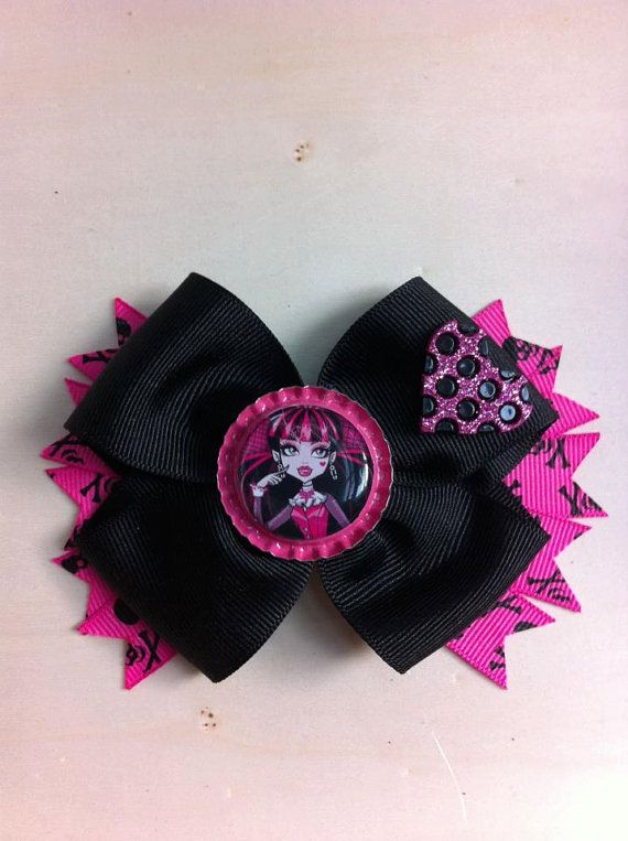 Monster High's Draculaura Heart Hair Bow by lendura on Etsy, $5.99