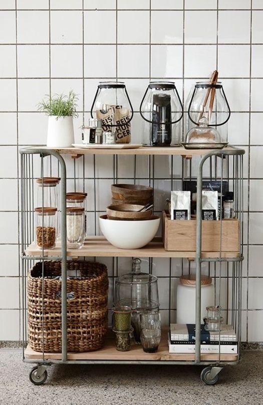 Carritos de cocina multiusos: en madera y metal