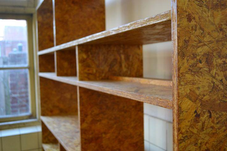 Houtwerff osb boekenkast eindhoven interieur for Interieur osb