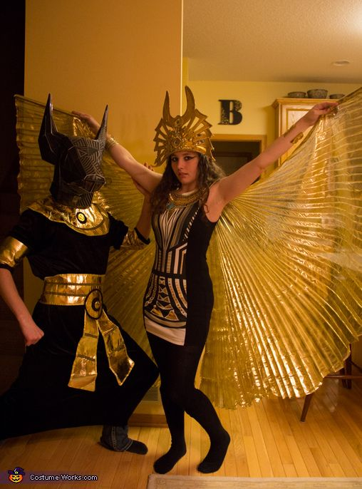 Kelly: My Fiance, Nathan, and I went out at the Egyptian Gods Anubis & Isis. We both have always loved Egyptology and who does't love getting to walk around sporting giant...
