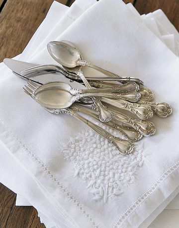 Family Silver and Linens