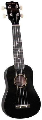 Diamond Head DU-100 Ukulele, Black by Diamond Head. $29.25. DU-100 Black Ukulele Join the latest craze and get your very own Diamond Head DU-100 series ukulele! They are available in eleven beautiful colors with careful workmanship and fantastic tone, well beyond that of other entry level instruments on the market today. As a result, they tune up perfectly and play so easy that kids will love 'em and grown-ups too! Each instrument comes with its very own color matche...